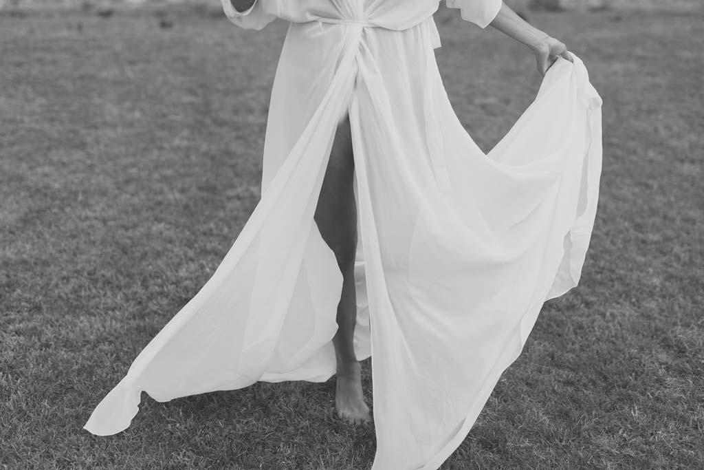 Vestido Novia Atico Plumeria Foto